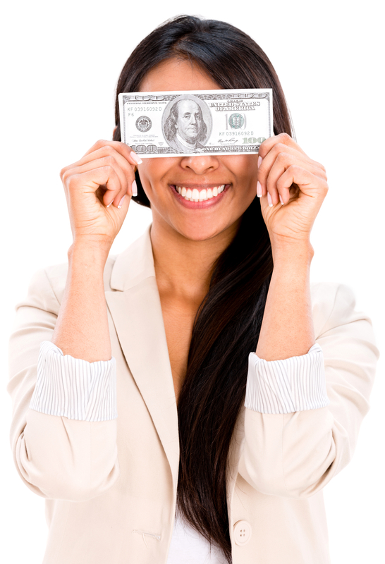 money over eyes